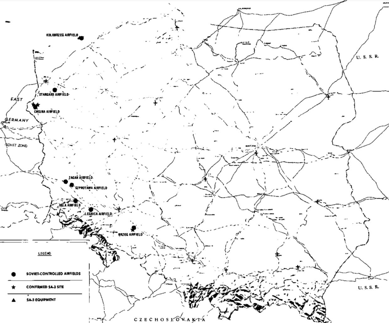 Polish SAM sites in 1968 / CIA FOIA RR