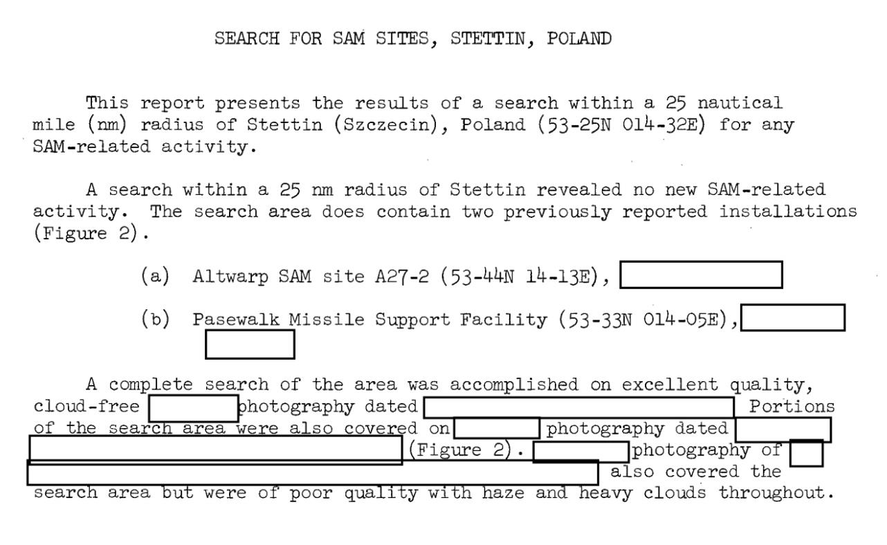 photo recon summary (CIA FOIA RR)